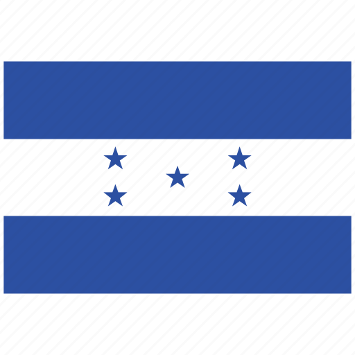 flag of honduras, honduras, honduras's flag, honduras's square flag icon