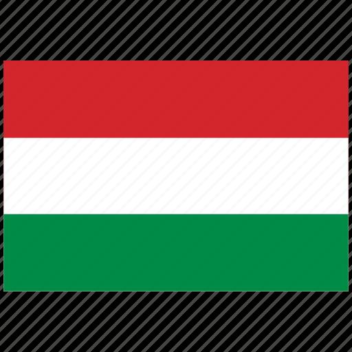 flag of hungary, hungary, hungary's flag, hungary's square flag icon