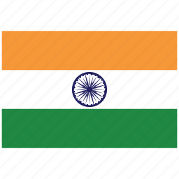 flag of india, india, india's flag, india's square flag icon
