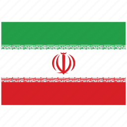 flag of iran, iran, iran's flag, iran's square flag icon