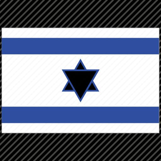 flag of israel, israel, israel's flag, israel's square flag icon