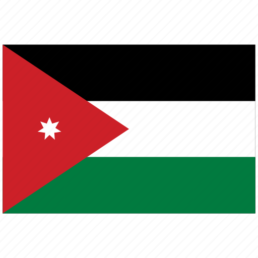 flag of jordan jordan jordan s flag jordan s square flag icon