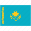 flag of kazakhstan, kazakhstan, kazakhstan's flag, kazakhstan's square flag icon