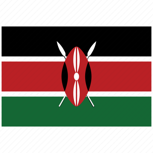 flag of kenya, kenya, kenya's flag, kenya's square flag icon