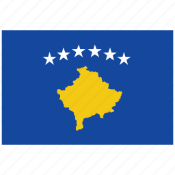 flag of kosovo, kosovo, kosovo's flag, kosovo's square flag icon