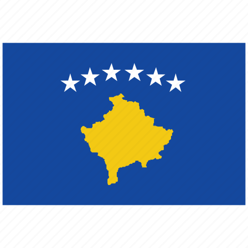 flag of kosovo, kosovo, kosovo's flag, kosovo's square flag icon