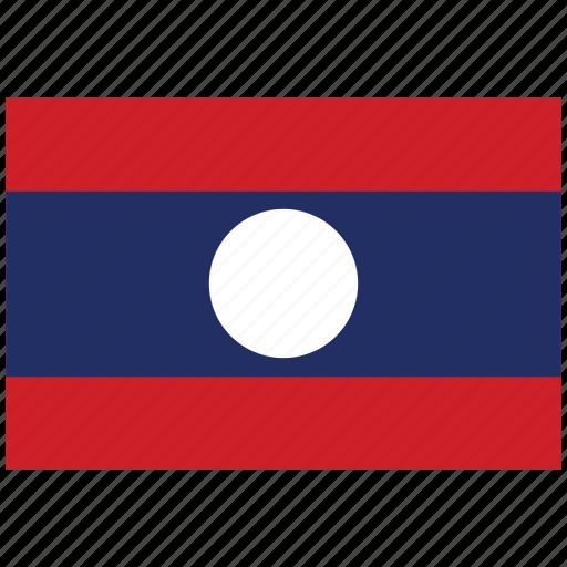 flag of laos, laos, laos's flag, laos's square flag icon