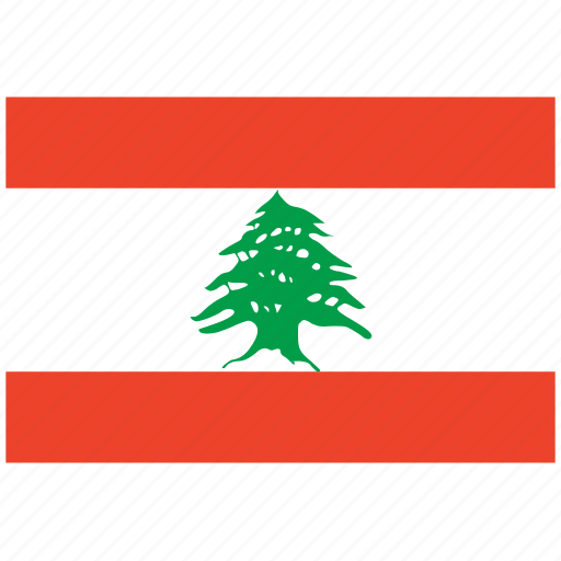 flag of lebanon, lebanon, lebanon's flag, lebanon's square flag icon