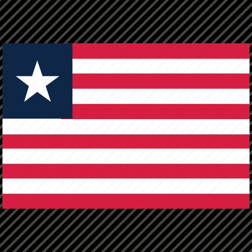 flag of liberia, liberia, liberia's flag, liberia's square flag icon