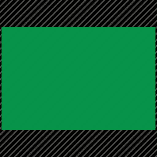 flag of libya, libya, libya's flag, libya's square flag icon