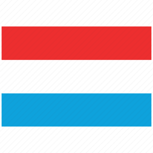 flag of luxembourg, luxembourg, luxembourg's flag, luxembourg's square flag icon