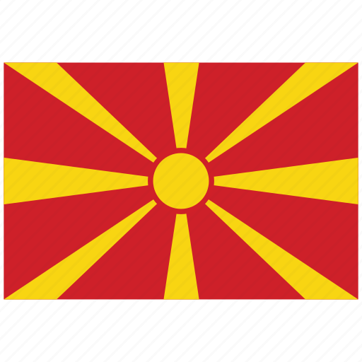 flag of macedonia, macedonia, macedonia's flag, macedonia's square flag icon