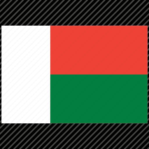 flag of madagascar, madagascar, madagascar's flag, madagascar's square flag icon