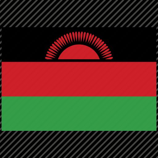 flag of malawi, malawi, malawi's flag, malawi's square flag icon