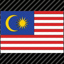 flag of malaysia, malaysia, malaysia's flag, malaysia's square flag icon