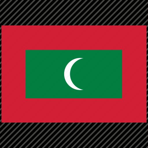 flag of maldives, maldives, maldives's flag, maldives's square flag icon