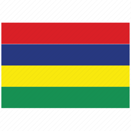 flag of mauritius, mauritius, mauritius's flag, mauritius's square flag icon