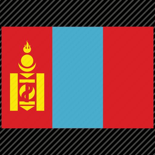 flag of mongolia, mongolia, mongolia's flag, mongolia's square flag icon