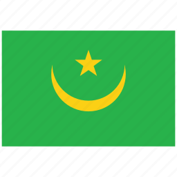 flag of mauritania, mauritania, mauritania's flag, mauritania's square flag icon