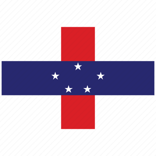flag of n antilles, n antilles, n antilles's flag, n antilles's square flag icon