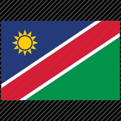 flag of namibia, namibia, namibia's flag, namibia's square flag icon