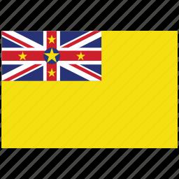 flag of niue, niue, niue's flag, niue's square flag icon