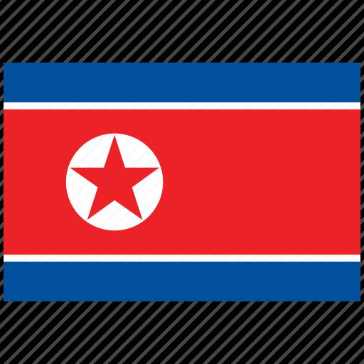 flag of north korea, north korea, north korea's flag, north korea's square flag icon