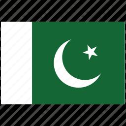 flag of pakistan, pakistan, pakistan's flag, pakistan's square flag icon