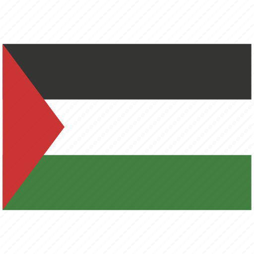 flag of palestine, palestine, palestine's flag, palestine's square flag icon