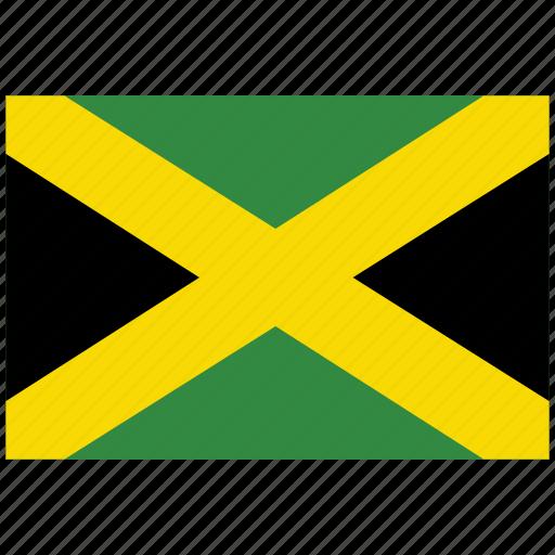 flag of jamaica, jamaica, jamaica's flag, jamaica's square flag icon