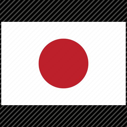 flag of japan, japan, japan's flag, japan's square flag icon