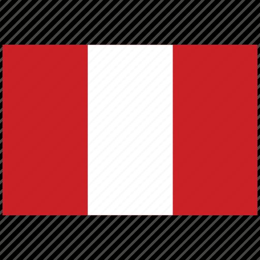 flag of peru, peru, peru's flag, peru's square flag icon
