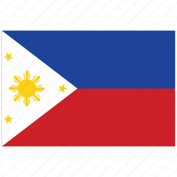flag of philippines, philippines, philippines's flag, philippines's square flag icon