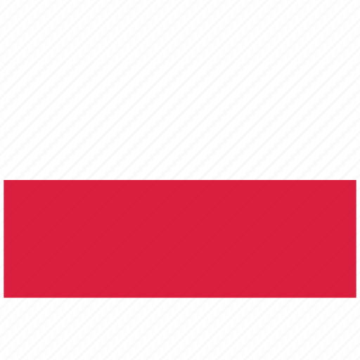 flag of poland, poland, poland's flag, poland's square flag icon