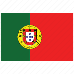 flag of portugal, portugal, portugal's flag, portugal's square flag icon