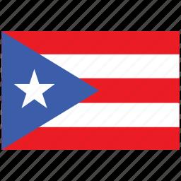 flag of puerto rico, puerto rico, puerto rico's flag, puerto rico's square flag icon