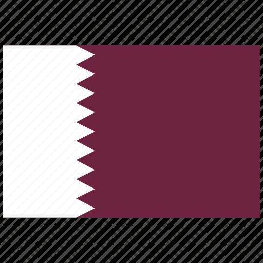 flag of qatar, qatar, qatar's flag, qatar's square flag icon