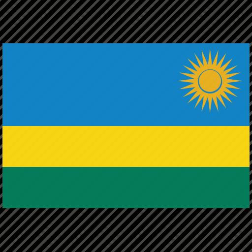 flag of rwanda, rwanda, rwanda's flag, rwanda's square flag icon