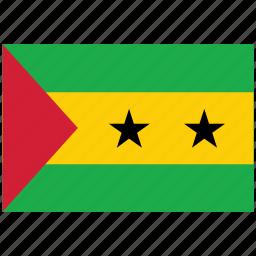 flag of sao tome, sao tome, sao tome's flag, sao tome's square flag icon