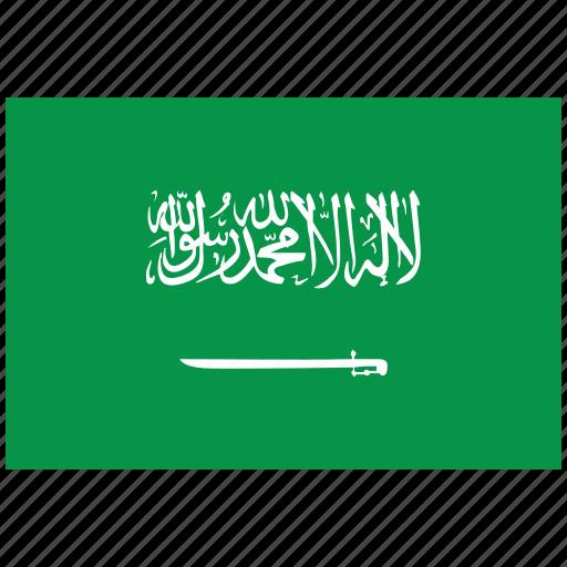 flag of saudi arabia, saudi arabia, saudi arabia's flag, saudi arabia's square flag icon