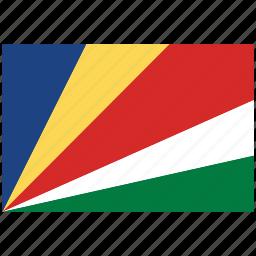 flag of seychilles, seychilles, seychilles's flag, seychilles's square flag icon