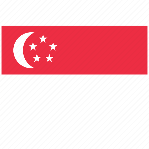 flag of singapore, singapore, singapore's flag, singapore's square flag icon