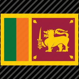 flag of sri lanka, sri lanka, sri lanka's flag, sri lanka's square flag icon