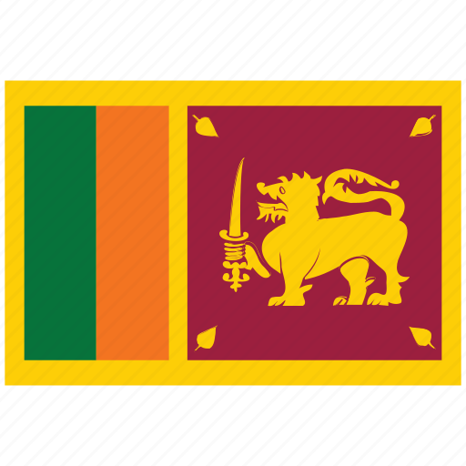 flag of sri lanka, sri lanka, sri lanka's flag, sri lanka's square flag icon