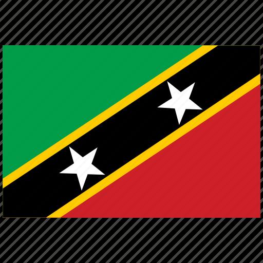 flag of st kitts nevis, st kitts nevis, st kitts nevis's flag, st kitts nevis's square flag icon