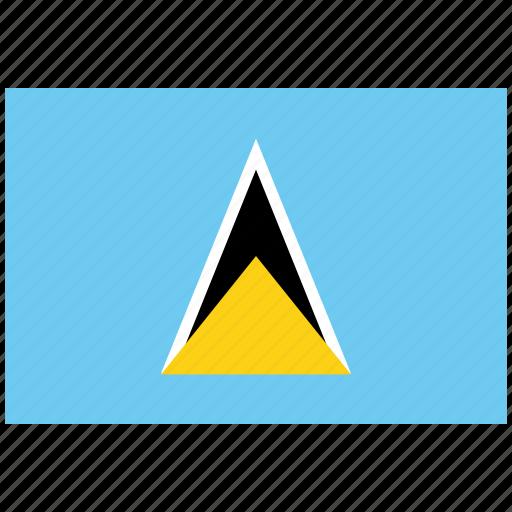 flag of st lucia, st lucia, st lucia's flag, st lucia's square flag icon