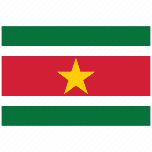 flag of suriname, suriname, suriname's flag, suriname's square flag icon