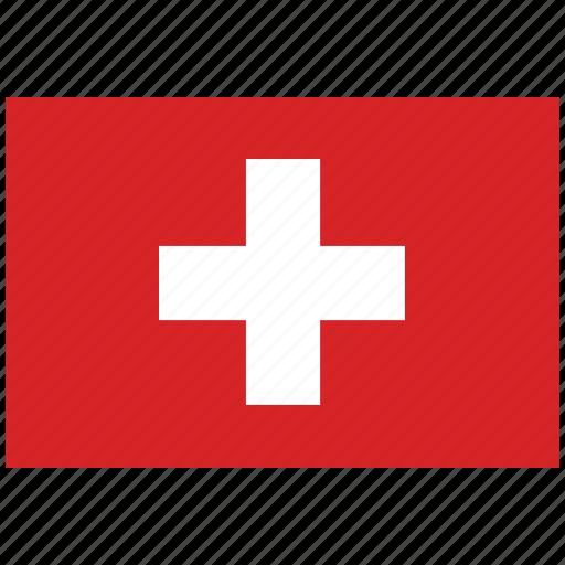 flag of switzerland, switzerland, switzerland's flag, switzerland's square flag icon