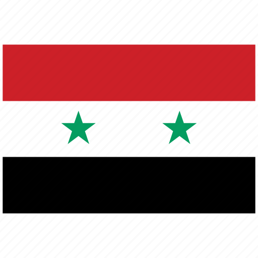 flag of syria, syria, syria's flag, syria's square flag icon