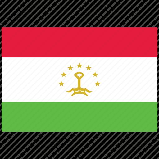 flag of tajikistan, tajikistan, tajikistan's flag, tajikistan's square flag icon